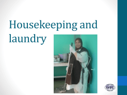 Housekeeping and laundry - International Federation of Infection