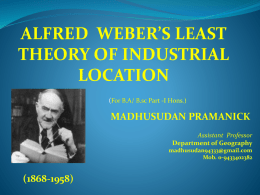 alfred weber`s least theory of industrial location