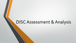 DISC Assessment & Analysis