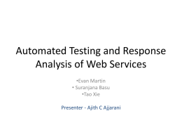 Automated Testing Web Services