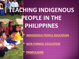 teaching indigenous people in the philippines (dator, angeline d.)
