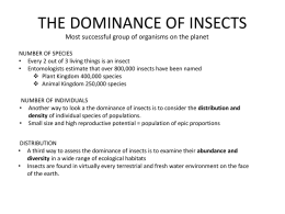 Dominance of Insects - Delaware Science Olympiad
