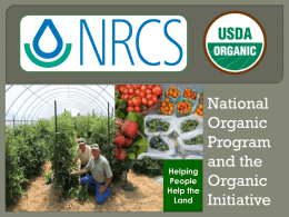 NOP and Organic Initiative Powerpoint