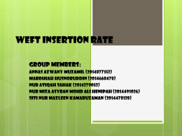 Weft insertion rate