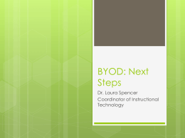 Board Presentation - BYOD Implementation Plan