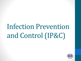 Infection Prevention and Control - International Federation of
