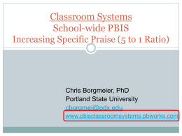 5 to 1 Ratio - pbisclassroomsystems