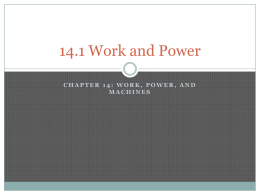 14.1 Work and Power - Decker