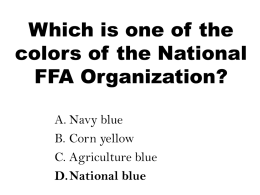 Practice Test Question ANSWERS - Box Elder FFA and Agricultural