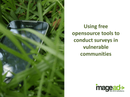Using free open-source tools for surveys in vulnerable communities
