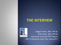 The Interview - American Nurses Credentialing Center