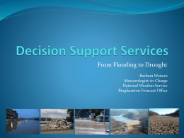 Decision Support Services - Barbara Watson, NWS