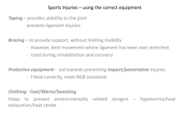 Sports Injuries – using the correct equipment
