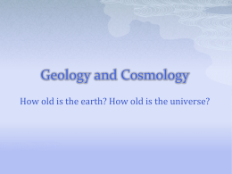 Geology and Cosmology - Physics at Oregon State University