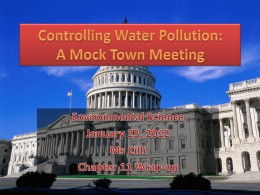 Controlling Water Pollution: A Mock Town Meeting