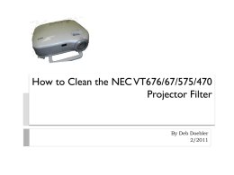 How to Clean the NEC Projector Filter