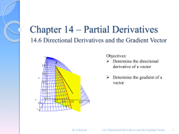 14.6 Directional Derivativess & Gradient Vectors