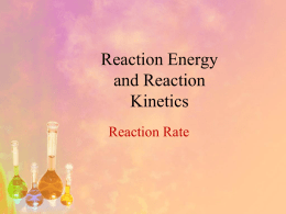 Reaction Rates - Madison Public Schools