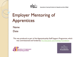 Employer Mentoring of Apprentices.final version 29.09.14