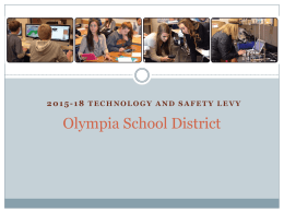2015-2018 Technology Levy Power Point