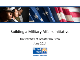 "C-8: ""I&R 101 for Military Affairs: Building a Strong I&R Program for"