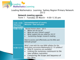 term 1 network preparing for the new mathematics syllabus
