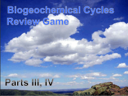 Biogeochemical Cycles PowerPoint Review Game