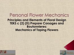 Lesson 02D Personal Flower Mechanics - Taping PPT