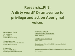 Research*Pfft A dirty word Or an avenue to privilege