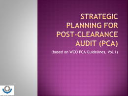 STRATEGIC PLANNING FOR Post