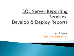 Reporting Services Guru: Developing Reports - austin