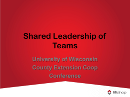 Shared Leadership of Teams