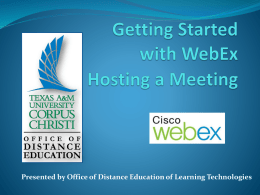 Getting Started with WebEx