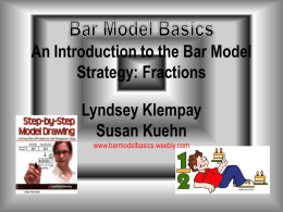 Picture - Numeracy Institute:Bar Model Basics