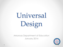 Universal Design - Arkansas State University