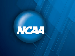 2014 and 2015 NCAA Rules Changes Summary