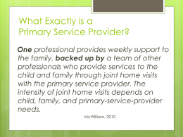What Exactly is a Primary Service Provider?