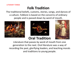 Folk Literary Terms