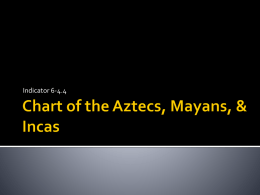 Chart of the Aztecs, Mayans, & Incas
