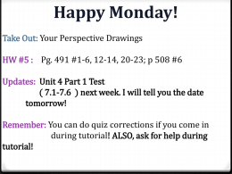 7.5: Using Proportional Relationships