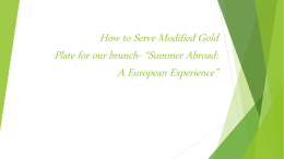 How to Serve Modified Gold Plate for our brunch