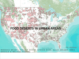 Food Deserts in Urban Areas