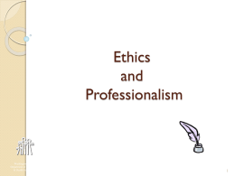 Ethics and Professionalism 5-29