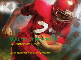 Quiz on Unstoppable book for RandE