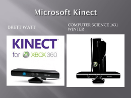 kinect - Mathematics & Computer Science