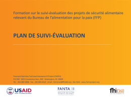 plan de suivi-évaluation - Food and Nutrition Technical Assistance III