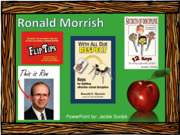 Ronald Morrish-classroom management