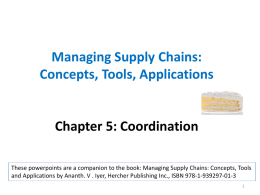 Managing Supply Chains - Hercher Publishing Inc