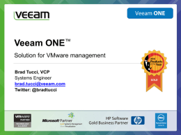 Veeam ONE presentation
