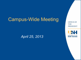 Campus Wide Meeting - University of New Haven